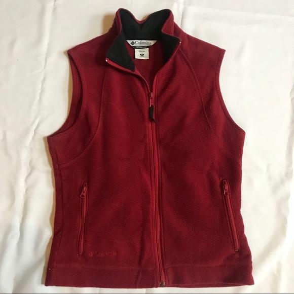 22bc21b304 Columbia Jackets   Blazers - Columbia red women s fleece vest